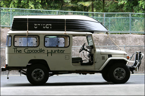 The crocodile hunter jeep used in TV series