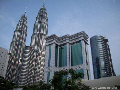 Kuala Lumpur twin tower and other buildings